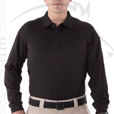 FIRST TACTICAL MEN PERFORMANCE POLO LONG - BLACK - SM