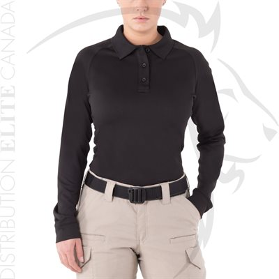 FIRST TACTICAL WOMEN PERFORMANCE POLO LONG - BLACK - XS