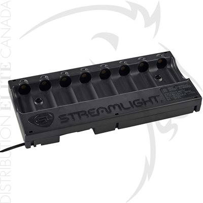 STREAMLIGHT 8-UNIT 18650 BATTERY BANK CHARGER - 120V / 100V AC