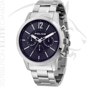 FIORI POLICE WATCH - LEGACY STAINLESS STEEL W / BLUE DIAL