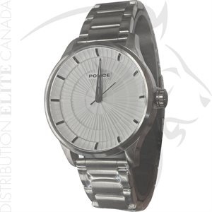 FIORI POLICE WATCH - JET STAINLESS STEEL W / WHITE DIAL