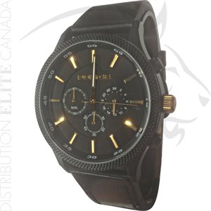 FIORI POLICE WATCH - PACE BLACK LEATHER W / BLACK DIAL