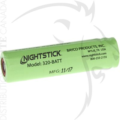 NIGHTSTICK 3.6V 800mA LITHIUM-ION RECHARGEABLE BATTERY