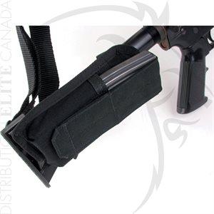 BLACKHAWK BUTTSTOCK MAG POUCH M4 COLLAPSIBLE - NOIR