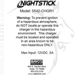NIGHTSTICK SNAP-IN RAPID CHARGER - XPR-5542GMX