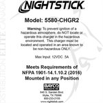 NIGHTSTICK CHARGER - XPR-5580 SERIES