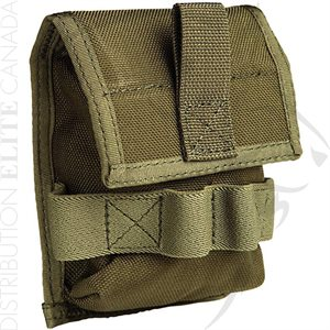 UNCLE MIKE'S DBL CUFF OD GRN POUCH MOLLE COMP.