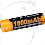 FENIX ARB-L14 1600mAh USB RECHARGEABLE LI-ION 14500 BATTERY