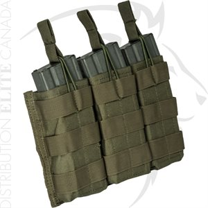ARMOR EXPRESS BASE M16 & M4 TRIPLE OPENTOP BUNGEE MAG POUCH
