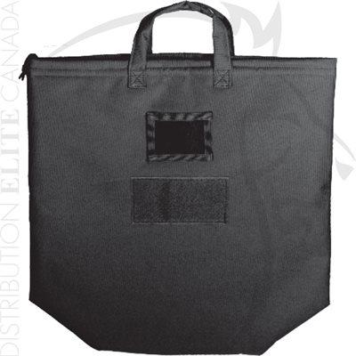 ARMOR EXPRESS HELMET CARRY BAG - ZIPPERED W / PADDING - BLACK
