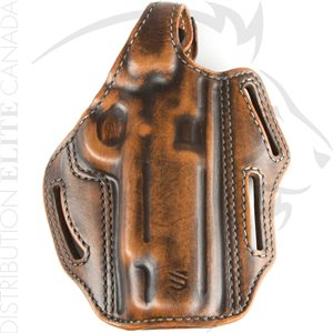 BLACKHAWK PREMIUM LEATHER 3-SLOT PANCAKE HOLSTER