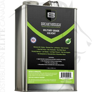 BREAKTHROUGH MILITARY GRADE SOLVENT - 1 GALLON CAN