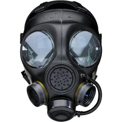 AIRBOSS - PC4 MASQUE A GAZ - NOIR ( VERSION POLICE)