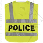 HORACE SMALL HI-VIS BREAKAWAY SAFETY VEST - POLICE - MD / LG