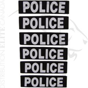 HI-TEC BANDES D'IDENTIFICATION POUR CALEPIN (POLICE) (PKT 6)