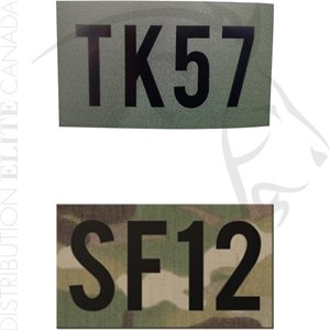 INFRARED ID IR CALLSIGN PATCHES