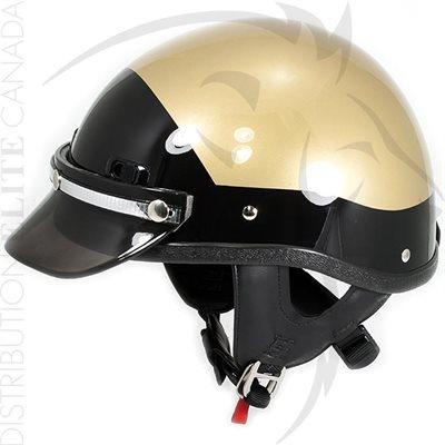 SUPER SEER S1602 MOTOR HELMET - GOLD & BLACK