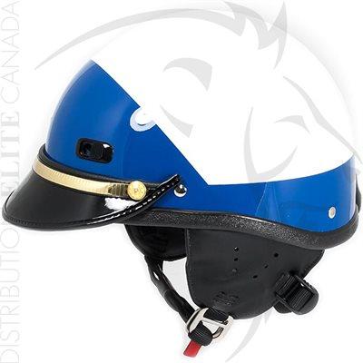 SUPER SEER S1608 MOTOR HELMET - WHITE & BLUE