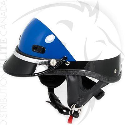 SUPER SEER S1608 MOTOR HELMET - WHITE & BLACK / BLUE