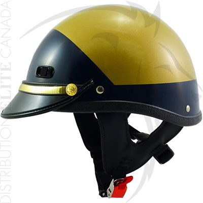 SUPER SEER S1608V MOTOR HELMET - GOLD YELLOW & DARK BLUE