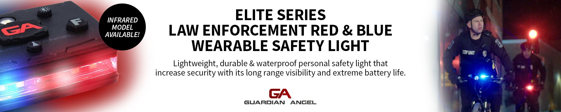 GA - Elite Series Law Enforcement Red/Blue Wearable Safety Light